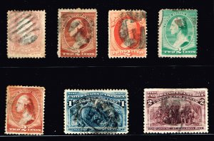 US STAMP 19th OLD USED STAMP COLLECTION LOT