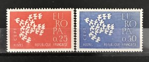 France 1961 #1005-6, MNH, CV $.50