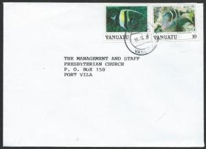 VANUATU 1991 local cover, 15v rate fish franking...........................51364