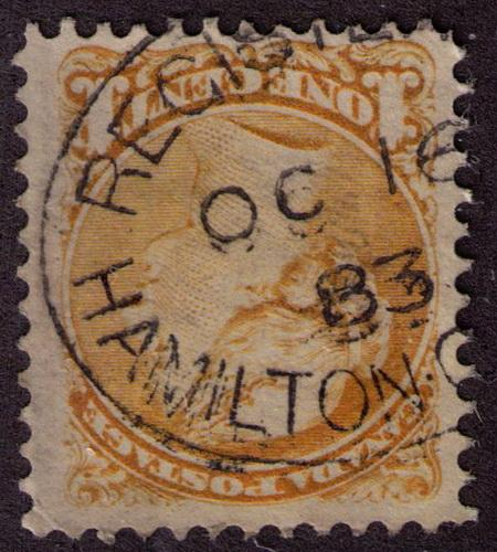 Canada # 35 Used F-VF with VF CDS Oval reg Hamilton OC16/83