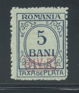 Romania 3NJ1  F+  MNH gum skips
