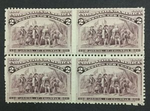 MOMEN: US #231 BLOCK MINT OG **NH** POST OFFICE FRESH #31115