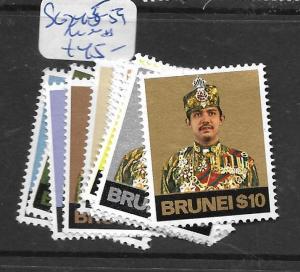 BRUNEI  (PP3105B)  SULTAN SG 245-259   MNH