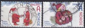 Norway #1692-3  F-VF Used CV $2.50  (Z5729)