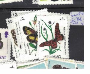 Lesotho Butterfly SC 765-72 MNH (2dpn)