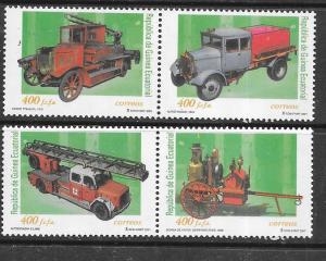 Guinea #242a-d Fire Trucks pairs (MNH) CV $9.00