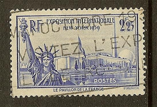 France, Scott #372, 2.25fr Statue of Liberty, Used