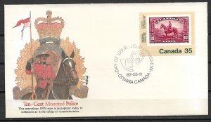 1982 Canada 911 International Philatelic Youth Expo/Canada No 223 FDC