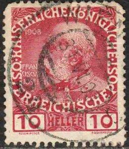 Austria 115, 10h Emperor Franz Joseph. Used. F-VF. (212)