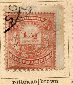 Argentina 1884 Early Issue Fine Used 1/2c. NW-11802