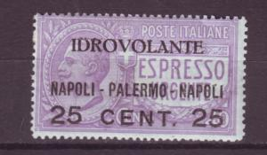 J17236 JLstamps 1917 italy mlh #c2 airmail ovpt