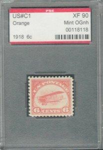 MALACK C1 XF OG NH, w/PSE (GRADED 90, ENCAPSULATED),..MORE.. g8210