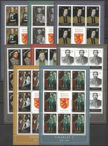 NW0166 2010 SOLOMON ISLANDS KINGS & QUEENS OF ENGLAND MICHEL 51 EURO !!! 8KB MNH