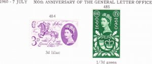 Great Britain 1960 QEII Tricent of Est of General Letter Office Set SG621-619...