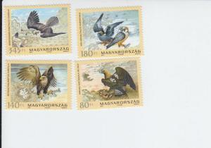 2012 Hungary Protected Birds of Prey (4) (Scott 4234-37) MNH