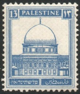 PALESTINE-1927-45 13M Ultramarine Sg 98 UNMOUNTED MINT V42920