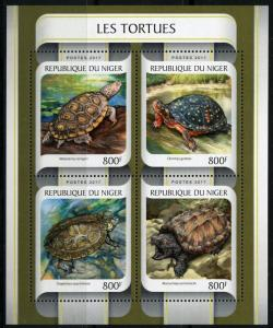 NIGER 2017  TURTLES  SHEET MINT NH