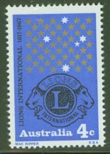 Australia Scott 426 MNH** Lions stamp 1966