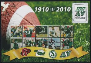 Canada Pre-paid Envelope  S84 - Saskatchewan Roughriders
