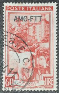 DYNAMITE Stamps: Trieste Scott #105 – USED