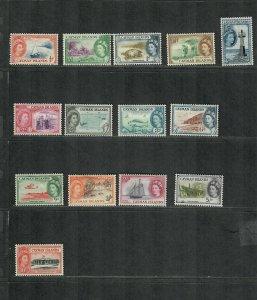 Cayman Islands Sc#135-148 M/H/VF, Partial Set, Cv. $87.60