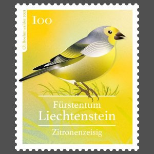 Stamps Of Liechtenstein 2021 - Native Songbirds.(2)