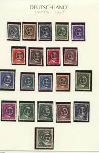Locals 1945 Lichtenau Type I, 20 different MNH Hitler overprints
