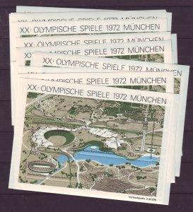 Z726 JLstamps 18 1972 germany s/s mnh #b489 sports olympics munich