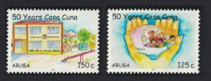Aruba 50th Anniversary of Casa Cuna Children's Home Foundation 2v SG#395-396