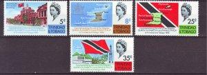 J22170 Jlstamps 1966 trinidad & tobago set mh #119-22 queen/views
