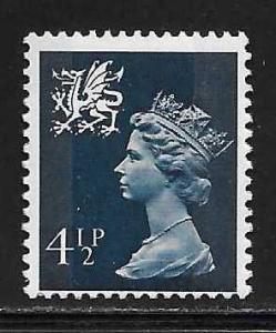 Great Britain Wales WMMH4 4 1/2p Machin MNH