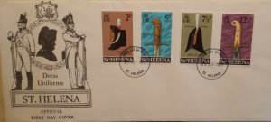 St Helena Stamps 1973 Dress Uniforms FDC Official First Day Cover