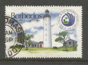 BARBADOS  867  USED,  RAGGED POINT LIGHTHOUSE