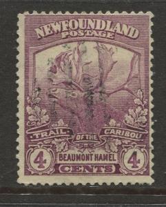 Newfoundland - Scott 118 - Caribou Issue - 1919 - Used - Single 4c Stamp