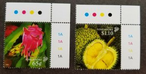 *FREE SHIP Singapore Vietnam Joint Issue Fruit 2008 Durian Tree (stamp plate MNH