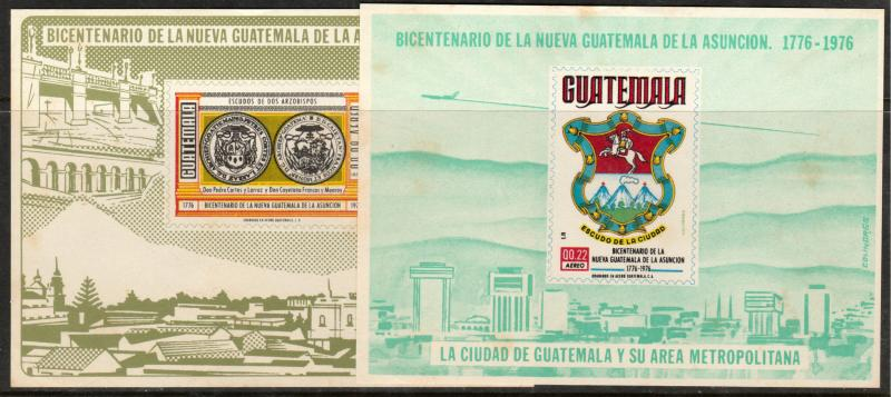 GUATEMALA C621-C625a, NUEVA CUATEMALA, 200th ANNIV. INCL. 2 SS. MINT, NH (140)