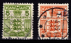 Denmark 1934 Special Fee (quadrille background), Set [Used]