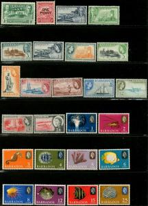 BARBADOS Sc#202 654 1939-1985 70 Different Mint Pictorials OG Hinged