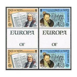 Isle of Man 212-213 gutter,MNH.Michel 213-214. EUROPE CEPT-1982.Thomas Wilson,