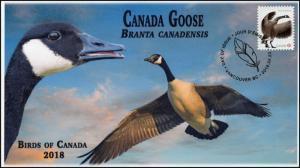 CA18-051, 2018, Birds of Canada, Pictorial, FDC, Canada Goose