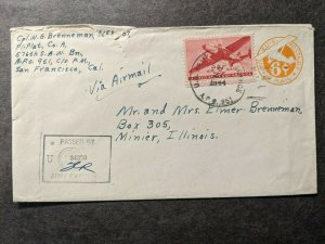 APO 951 BELLOWS FIELD, HAWAII 1944 Censored WWII Army Cover 576th SAW Bn