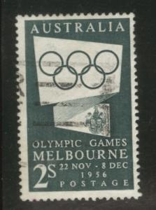 AUSTRALIA Scott 286 used 1955 Melbourne Olympic stamp