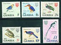 Gambia Scott 222-7 MNH** Key Bird Stamps CV $4.30.