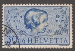 Switzerland stamp, Used, Scott# B88, baby, face,   #M331