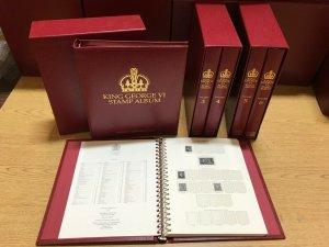 Stanley Gibbons Limited King George VI Stamp Album 6 Volume Set #R3417