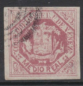 VENEZUELA  An old forgery of a classic stamp................................D734