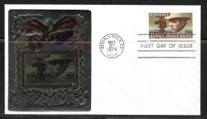 United States 1555 D.W. Griffith Metalic First Day Cover FDC (z1)