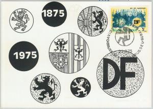 63462 -  BELGIUM - POSTAL HISTORY: MAXIMUM CARD 1975 -  RELIGION Davidsfonds