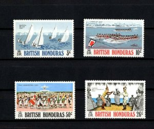 BRITISH HONDURAS - 1970 - BARON BLISS DAY - LABOUR DAY - DANCE +++ MINT MNH SET!