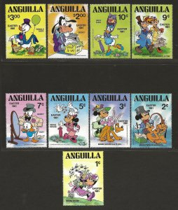 ANGUILLA SC# 434-42  VF/MNH